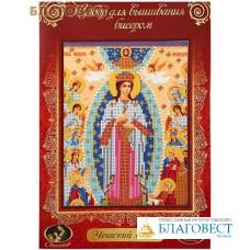 """Набор для вышивания бисером Пресвятая Богородица """"Невесто Неневестная"""". Чешский бисер. Размер 18,1*23,8 см"""