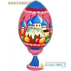 """Яйцо деревянное с ручной росписью """"Собор"""""""