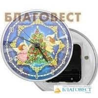 """Часы акриловые на магните """"Рождество Христово"""", диаметр 10 см"""