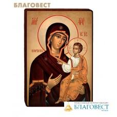 Икона Божией Матери Иверская чаша на деревянной основе