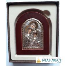 Икона Святое Семейство, на деревяной подставке. 10 х 14 см. Греция