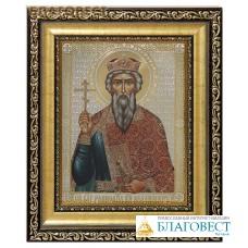 Икона св. блгв. князь Владимир. Киот (узкий), багет, стекло